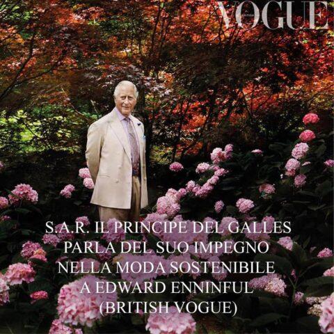 Intervista a SAR il Principe Carlo a British Vogue