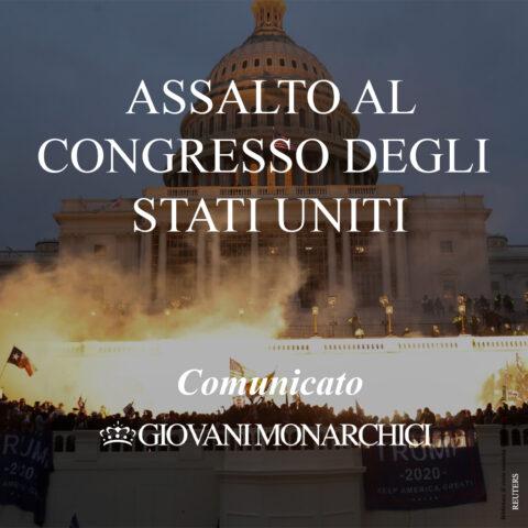 COMUNICATO: Attacco al Congresso degli Stati Uniti d'America