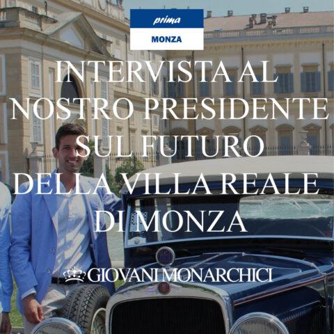 """Le proposte: """"La Villa Reale nell'Unesco e sede del G20"""" – Intervista al nostro Presidente Simone Balestrini su PrimaMonza"""